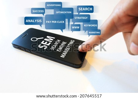 search engine marketing - stock photo