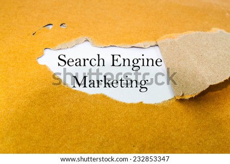 Search engine marketing concept on brown envelope  - stock photo