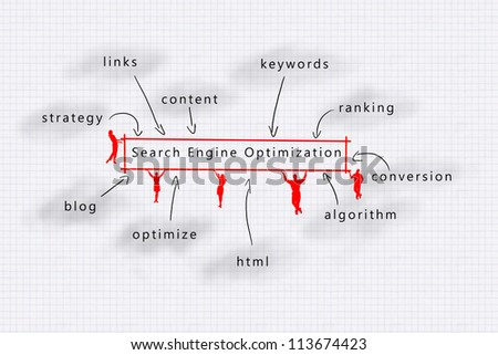 Search Engine Optimization (SEO) competitive advantage - stock photo
