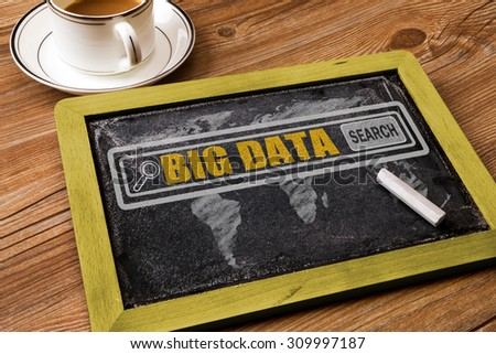 search for big data concept on blackboard - stock photo