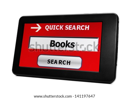 Search for books - stock photo
