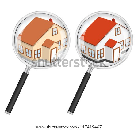 Search for house concept - stock photo