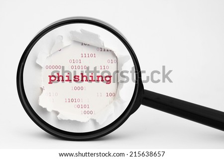 Search for phishing data - stock photo