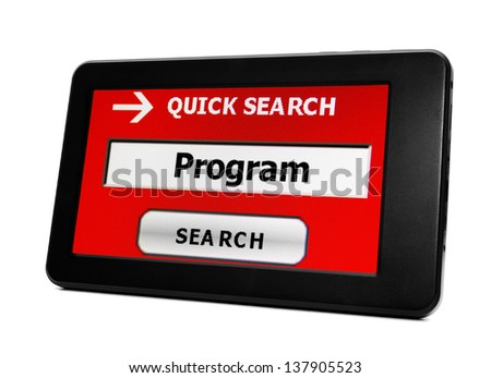 Search for program online - stock photo