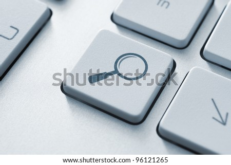 Search key on the keyboard. Toned Image. - stock photo