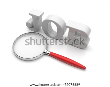 Search of work. 3D Illustration - stock photo