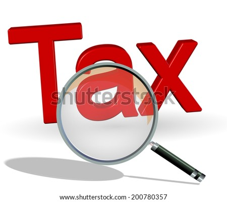 search tax - stock photo