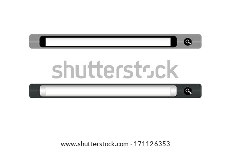 search toolbar isolated on white background - stock photo