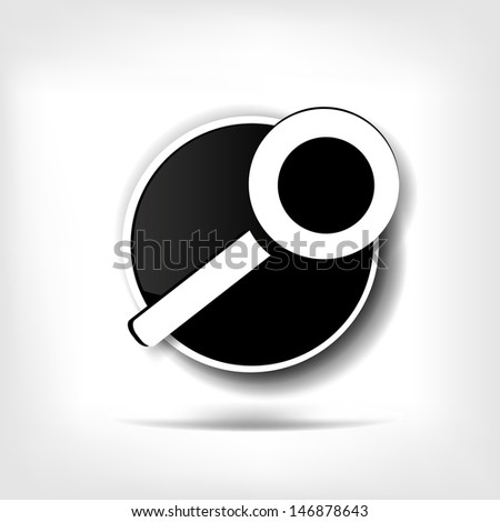 search web icon - stock photo