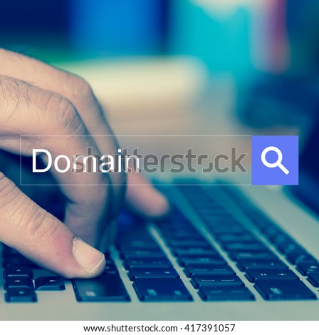 SEARCH WEBSITE INTERNET SEARCHING Domain CONCEPT - stock photo
