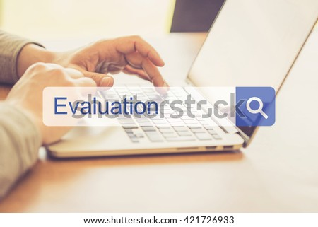 SEARCH WEBSITE INTERNET SEARCHING EVALUATION CONCEPT - stock photo
