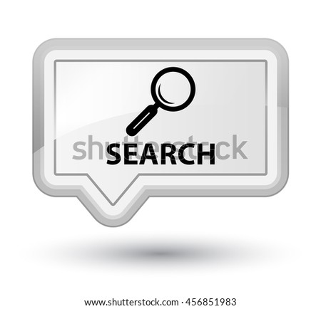 Search white banner button - stock photo