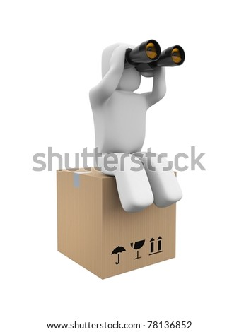 Searching client - stock photo