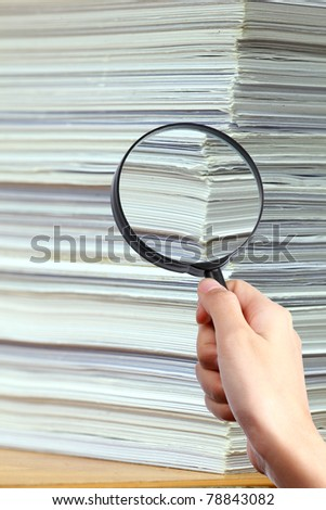 Searching Documents - stock photo
