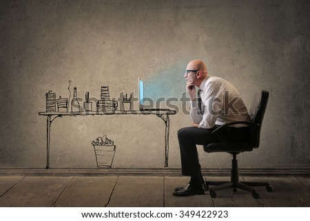 Searching for an idea - stock photo