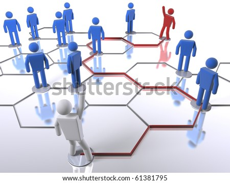 Searching for the right person in the network - stock photo