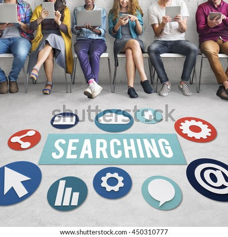 Searching Seeking Discover Exploration Concept - stock photo