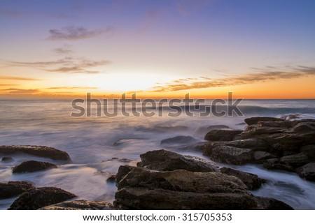 Seascape at Bronte beach. Sydney Australia. - stock photo