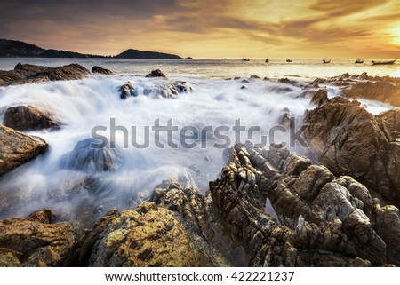 Seascape at Kalim Beach, Phuket, Thailand - stock photo