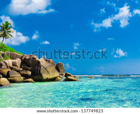 Seascape Beach Scene - stock photo
