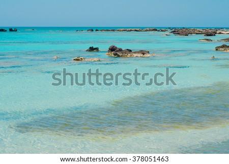 Seascape - Greece, Crete, Elafonissos - stock photo