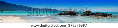 Seascape - Greece, Crete, Elafonissos - panorama - stock photo