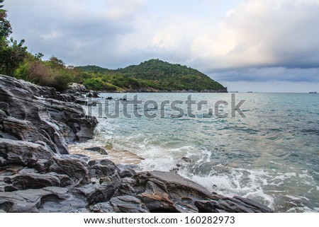 Seascape in Asia on Cloudy Day. - stock photo