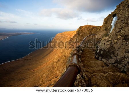 seascape in lanzarote - stock photo