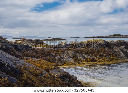 Seascape in the West Highland of Scotlands  - stock photo