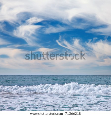 seascape in Vina del Mar, Chile - stock photo