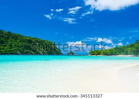 Seascape of Koh Rok island, Krabi, Thailand  - stock photo