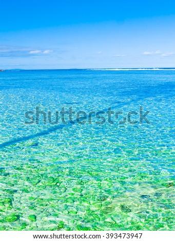 Seascape Scene Tropics  - stock photo