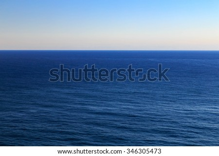 Seascape with the Pacific Ocean, California, USA. - stock photo