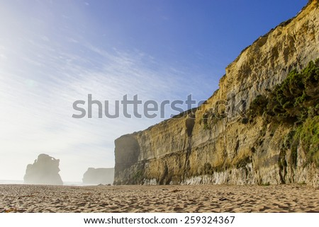 Seashore and beach attraction place on Great Ocean Road - stock photo