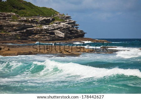 Seashore near to Bondi beach, Sydney, Australia - stock photo