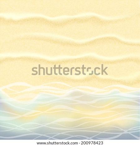 Seaside Background. Raster version.  - stock photo