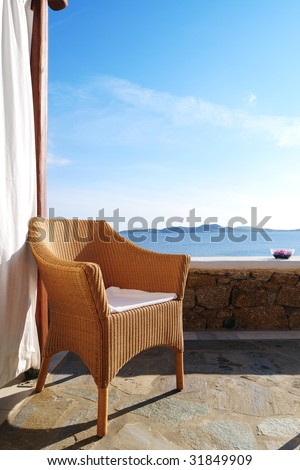 Seaside Chair - stock photo