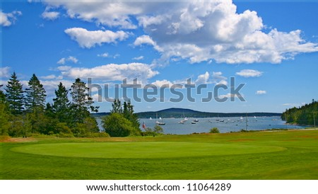 Seaside Golf - stock photo