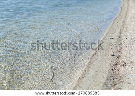 seaside of the Azov sea - stock photo