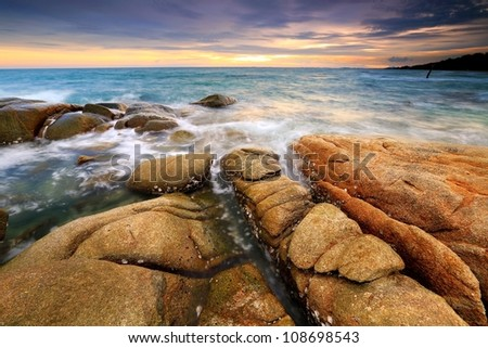 Seaside Sunset - stock photo