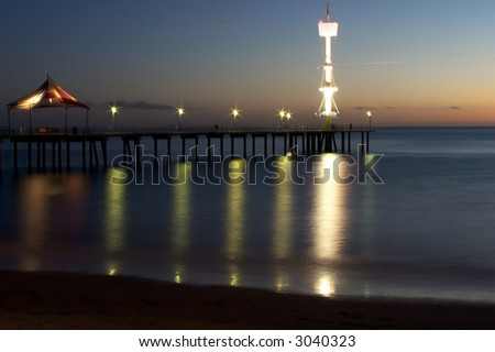 Seaside view in the evening, sunset - stock photo