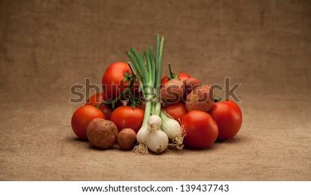 seasonally fresh food - stock photo