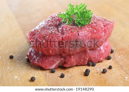 Seasoned fillet steak - stock photo