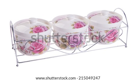 Seasoning set, set from kitchen tools. - stock photo