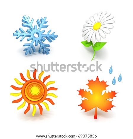 Seasons Concept - stock photo
