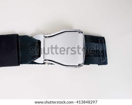 Seat belt aka safety belt vehicle safety device - stock photo