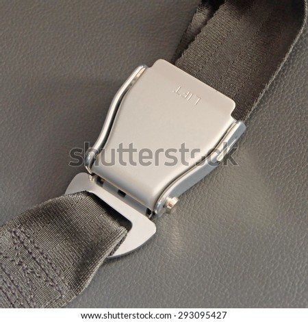 Seat Belt Which Be Used At Airplane - stock photo