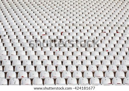 seat stadium - stock photo