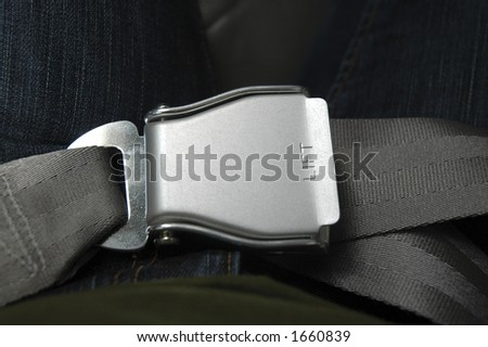 seatbelt - stock photo