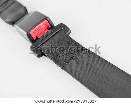 Seatbelt on white background - stock photo